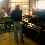 Manning the Grills! Pancake Breakfast, February 2016